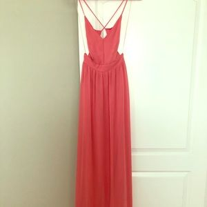 Rooftop Backless Coral Maxi